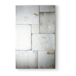 Arteriors - Luxembourg Mirror - With the patina of old-world elegance, this mosaic of antiqued mirror tiles reflects your love of style — not to mention the stylish pieces you love in your room. The individually cut pieces are joined to look like stone and edged in wood for extra depth and soul.