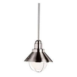 Kichler Lighting - Kichler Lighting 2621NI Seaside Lodge/Country/Rustic Outdoor Hanging Pendant - Kichler Lighting 2621NI Seaside Lodge/Country/Rustic Outdoor Hanging Pendant Light In Brushed Nickel
