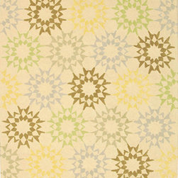 MARTHA STEWART RUGS - Quilt Cream Rectangular: 9 Ft. 6 In. x 13 Ft. 6 In. Rug - - The classic geometrics of an American Country Quilt appear refreshingly new in the soft and contemporary Block Quilt. Natural cotton yarns are densely hand-tufted in China to create a loop-pile background and subtle cut-pile motif, enhanced by the muted tonalities of its neutral palette.  - Country of Origin: China  - Material: Cotton  - Construction: Hand Hooked  - Pile Height (in.): 0.25 MARTHA STEWART RUGS - MSR1843A-10