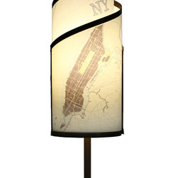 itsara koncepts - KLADIS: Interchangeable shades in seconds, New York, Printed Designs - Decorative table lamp with magnetic interchangeable shades. Change shades in seconds with any from our growing collection. Now you can finally change your decor for different occasions whenever you want.