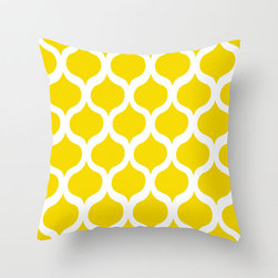 Safi Sunrise Pillow Cover in Yellow - Brighten up your home with a serious pop of color! This cheery pillow cover features a trendy Moroccan tile pattern in a sunny hue sure to grab your attention and put a smile on your face.