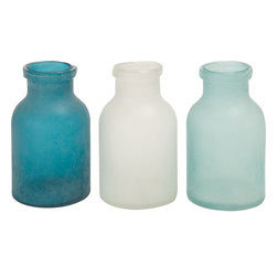 "Benzara - The Smooth Glass Vase 3 Assorted - Have you been searching for glass vases that are simple and unadorned? Looking for vases that will add loveliness to the ambience because of their colors? Well, now you need not search any further because these three glass vases will definitely satisfy your needs. In lovely colors, these vases are perfect for the living room. These vases won't just display flowers, but while displaying them they will add a quality of delicateness that cannot be added by any other vases.Add to that the fact that these vases have been made using quality materials, and what you get are great vases. Perfect for the modern home, they will complement modern color combinations that are light in color. A perfect gift tooG��these vases have it all. Lovely, neat and with smooth lines: these are the vases you should buy. Glass vase 3 assorted dimensions: All 3 vases: 7 inches (W) x 7 inches (D) x 12 inches (H); Glass vase color: Blue, white, green; Made from: Glass; Dimensions: 9""L x 25""W x 13""H"