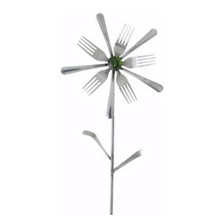 Forked Up Art - Lyra - Flower - A great display for the garden!