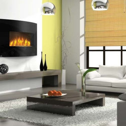 Napoleon EFC32H Series 32'' x 23'' Curved Electric Fireplace - Every room in your house deserves a beautiful focal point. The EFC32H Electric Fireplace is the perfect addition to every room in the house to add that extra ambiance. A work of art in and of itself, you will wonder how you ever lived without its curvaceous beauty. The unit itself takes up little real estate. And save on your energy bill by heating the rooms up to 400 square feet, keeping the furnace at a lower setting.