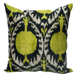 """NuLoom - Jefferson Ikat Velvet Silk And Cotton Decorative Pillow, Gold, 15"""" X 30"""" - This Jefferson Ikat Velvet Silk And Cotton Decorative Pillow would make a great addition to a couch or bed."""