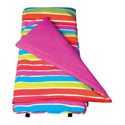 Wildkin Bright Stripes Nap Mat - The Wildkin Bright Stripes Nap Mat is a bright and colorful addition to nap time. This mat comes with an attached blanket, a storage bag, and a pillow for added convenience.About WildkinUnpacking the world of children's luggage, Wildkin offers a wide collection of outrageously fun and fantastically practical bags, backpacks, mats, sleeping bags, and more. Each Wildkin piece is available in over 30 unique patterns so parents can be sure to match individual tastes with personalized designs. As safe as they are dynamic, all Wildkin products are crafted with durable, kid-safe materials and tested to ensure the highest quality.