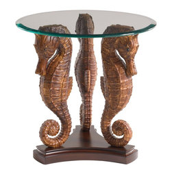 Lexington - Tommy Bahama Home Landara Sea Horse Lamp Table - A tranquil creature of elegance, the seahorse has long been a symbol of serenity and grace, finding contentment in traveling the seas. A stunning display of intricate detailing, this piece captures the very essence of refined destination living.