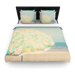 "Kess InHouse - Laura Evans ""A Summer Afternoon"" Blue Teal Fleece Duvet Cover (Queen, 88"" x 88"") - You can curate your bedroom and turn your down comforter, UP! You're about to dream and WAKE in color with this uber stylish focal point of your bedroom with this duvet cover! Crafted at the click of your mouse, this duvet cover is not only personal and inspiring but super soft. Created out of microfiber material that is delectable, our duvets are ultra comfortable and beyond soft. Get up on the right side of the bed, or the left, this duvet cover will look good from every angle."