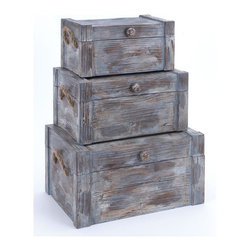 Benzara - Wood Trunk For Amazing Hand Art - Set of 3 - If you are left with small space in your room and you want to use this space purposely, have a look over 74391 WOOD TRUNK S/3 a set of three. Get this amazing hand art and flaunt your interior decor in style.