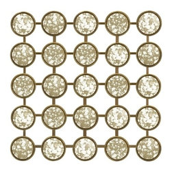Paris French Pavlova Mirror Wall Decor - *Unique wall display with an antiqued mirrored finish displaying repetitive geometric shapes that are eye pleasing.