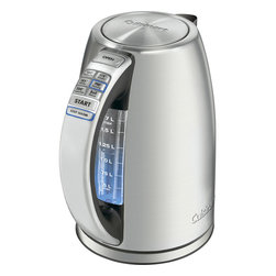 Cuisinart - Cuisinart PerfecTemp Cordless Electric Kettle - 1.7-liter capacity with blue backlit water window