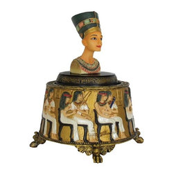 TLT - 4.5 Inch Hand Painted Resin Egyptian Queen Nefertiti Music Box - This gorgeous 4.5 Inch Hand Painted Resin Egyptian Queen Nefertiti Music Box has the finest details and highest quality you will find anywhere! 4.5 Inch Hand Painted Resin Egyptian Queen Nefertiti Music Box is truly remarkable.