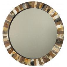 HORN MIRROR - ROUND - Mirrors & Wall Décor - Accessories | Jayson Home