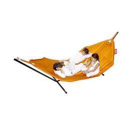 Fatboy - Headdemock Deluxe Hammock in Orange and Stand - Cover: