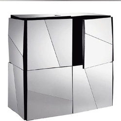 Tonelli Psiche Mirrored Sideboard Square - This sideboard offers a decidedly modern take on the ...