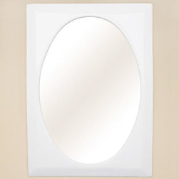 Rectangular Ceramic Mirror - White - Versatile enough for nearly any style of decor, this vanity mirror features a sleek, rectangular frame made of beautiful, white ceramic. It is the perfect finishing touch to add style and sophistication to your bath or powder room.