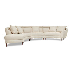 ecofirstart - Capri Sectional - The Capri sectional makes a striking statement with its bowed shape: a majestic arc with a modern aesthetic. Fusing the history of design with the infinite possibilities of pure creativity, this piece is a classic addition to the home.