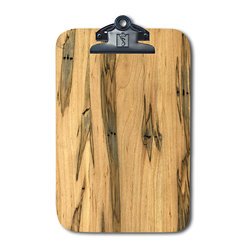 Note Catchers by Winwood Designs - Ambrosia Maple Magnetic Clipboard, Refrigerator Magnetic Extraordinaire - Designed to hold a traditional memo pad and pen. Crafted in solid Appalachian Ambrosia Maple  wood. Surprising strong magnets that will adhere to most steel surfaces.  Made in the USA from earth friendly American hardwoods. Organize your kitchen, office or car with this beautiful accessory.