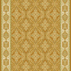 Rugs America - Verona Garden Gold Rectangular: 5 Ft. 3 In. x 7 Ft. 10 In. Rug - - Ancient royalty meets modern technology with the creation of Verona by Rugs America. Sophisticated and elegant traditional patterns have been redeveloped in a fine machine woven quality to satisfy the most advanced decorative tastes without having to spend a fortune. Superbly dense, plush, rich and durable, the Verona collection is a floor covering masterpiece developed with unprecedented taste and elegance. Made in Turkey with extra durable synthetic fibers for long lasting sustainability.  - Machine Made 1. 1 million points, Heat-Set Poly, No Fringe  - Pile Height: 0. 563 Rugs America - 23676