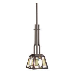 Kichler - Kichler 65321 Denman Single-Bulb Indoor Pendant with Pyramid-Shaped Glass Shade - Kichler 65321 Denman Mini Pendant