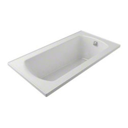 Sterling - Sterling Lawson 77261100 60 in. x 32 in. Air Massage Bathtub - 77261100-0 - Shop for Tubs from Hayneedle.com! If the idea of warm massaging bubbles rippling over every inch of your body sounds like heaven then you need the 5-foot Sterling Lawson 77261100 60 in. x 32 in. Air Massage Bathtub. This 3-speed air massaging bathtub produces 360-degree coverage so you feel the invigorating effect from head to toe. The design of this piece provides a clean look with a contemporary feel that will elevate the decor of your home bathroom. A carefully curved back and neck support makes lying back comfortable without the need for a towel or pillow as you let everything from the chest down sink into a soothing pool. And talk about depth this tub is capable of holding up to 53 gallons of water this relaxing tub is ideal for the individual who enjoys a nice long soak after a hard day's work. As for the construction Sterling has a reputation for quality craftsmanship and like all of their other bathroom units; this one is made from solid Vikrell. The compression-molded Vikrell is a Sterling exclusive that provides strength durability and a lasting beauty that you can customize with your own choice of finish. Kohler almond Kohler biscuit and pure white are all available with a coating of high-gloss that creates a smooth shiny surface which looks marvelous and is incredibly easy to clean. This bathtub measures 60W x 32D x 20H inches and fits nicely into any standard opening making it convenient for retrofit as well as new build settings particularly within an alcove or island. Receptor only; end walls and back walls can be ordered separately.About SterlingEstablished in 1907 and quickly recognized as a leading manufacturer of faucets and brassware Sterling has been known for their diversity of products and industry-leading designs for over a century. In 1984 Sterling was acquired by Kohler Co. to create a mid-priced full-line plumbing brand and allow Kohler the opportunity t