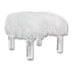 Lucite Stool With Tibetan Lamb Top Natural I Don T Think