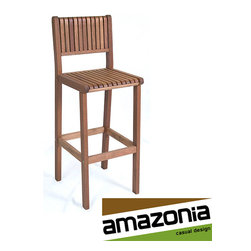 Amazonia - Ibiza Barstool - Barstool is made from Eucalyptus woodStool features a Polisten finish Chair measurures 45 inches high x 16.5 inches wide x 15.5 inches deep