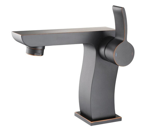 Kraus - Kraus KEF-14601BN Sonus Single Lever Basin Faucet, Oil Rubbed Bronze, 5.4 X 4.2 - It takes vision and creativity to design a masterpiece
