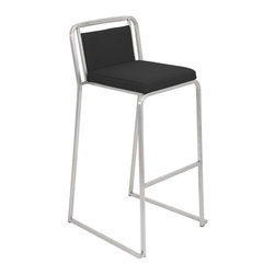 "Lumisource - Cascade Bar Stool, Black - 19.5"" L x 18.5"" W x 37"" H"