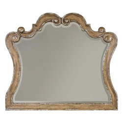 "Hooker Furniture - Hooker Furniture Chatelet Mirror - Come home to your little castle. Relax in a livable luxury with Chatelet, a whole home collection inspired by timeless farm style antiques found in ""little castles"" of Old World Europe. Hardwoods and Resin. Dimensions: 46""W x 1.75""D x 40""H."