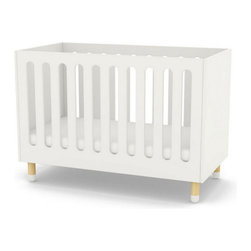 Play Baby Bed, White - The rounded organic shapes of the baby bed not only ensures your child's safety but it also brings a modern feel to the bed.