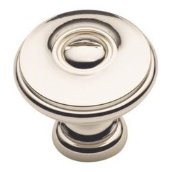 Cliffside Industries B600-PN Cabinet Knob - Artisan Series - Polished Nickel Fin - This polished nickel finish cabinet knob with flat round top and dummy screw is part of the artisan suite hardware collection from Cliffside Industries and is a perfect blend of craftsmanship in traditional and contemporary design to complement any decor.