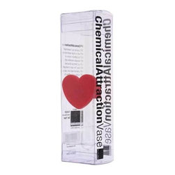 """MoMA - Chemical Attraction Heart Vase - Design ideas chemical attraction vase fun play on """"chemical attraction"""" by including a test tube and attaching it to a silicone heart suction cup to a mirror, glass or refrigerator surface will safely hold water and single stem flowers."""