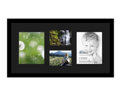 ArtToFrames - ArtToFrames Collage Photo Frame  with 2 - 5x7, 8x10 Openings and Satin Black Fra - Your one-of-a-kind photos deserve one-of-a-kind frames, but visiting a custom frame shop can be time consuming and expensive. ArtToFrames extensive and growing line of inexpensive multi opening Photo Mats will get you the look you want at a price you can afford. Our Photo Mats come in a variety of sizes and colors and can be custom made to your needs. Frame choices range from traditional to contemporary, with both single and multiple photo opening mat options. With our large selection of custom frame and mat choices, the design possibilities are limitless. When you're done, you'll have a unique custom framed photo that will look like you spent a fortune at a frame shop. Your frame will be delivered directly to your front door or sent as a gift straight to your recipient.