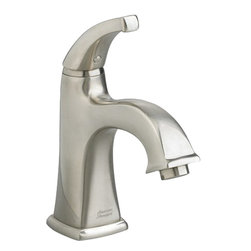 "American Standard - American Standard 2555.101.295 Townsquare Monoblock Faucet, Satin Nickel - American Standard 2555.101.295 Townsquare Single Control Monoblock Faucet, Satin Nickel. This single-control lavatory faucet features a cast brass spout, a braided flexible hose with 3/8"" compression connectors, and a metal Speed Connect pop-up drain for easy installation."