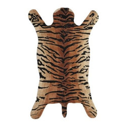 Z Gallerie - Tanzania Rug - For the bold look of African wildlife, but with an animal-friendly vibe, our Tanzania Area Rug offers a chic centerpiece for a room. The current and stylish look of this rug is hand tufted of 100% wool in a true-to-life tiger print and shape, with woven stripes to mimic the animal's pelt.