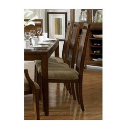 Homelegance - Contemporary Wooden Side Chair with Flat Back - Perfect remix of 60's retro-contemporary style for your modern dining room. The distinct veneer pattern of the table and chairs is perfectly accented by the three-dimensional functional.
