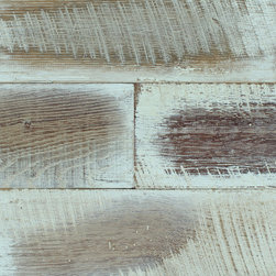 enCORE Collection - BUCKINGHAM is a truly unique finish, handcrafted on Antique Reclaimed Oak displaying areas of saw kerf and wood tones from light brown to deep red. These planks are prefinished with polyurethane and make for a beautifully rustic wall cladding.