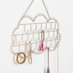 Hanging Cloud Jewelry Stand - Jewelry looks even better when it is organized and visible. This Hanging Cloud jewelry stand is so cute. It is sure to make your baubles sparkle and shine even more.