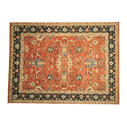 Hand Spun Wool Rug Hand Knotted 9'x12' Serapi Recreation Dense Weave SH14602 - This collections consists of well known classical southwestern designs like Kazaks, Serapis, Herizs, Mamluks, Kilims, and Bokaras. These tribal motifs are very popular down in the South and especially out west.