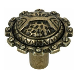 Richelieu Hardware - Richelieu Classic Metal Decorative Knob 32mm Antique English - Richelieu Classic Metal Decorative Knob 32mm Antique English