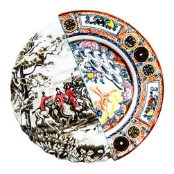 Seletti - Hybrid Eusafia Dinner Plate - The Hybrid Eusafia design is an artistic representation of east meets west designs. Brighten up your dinner table with this elegant piece.