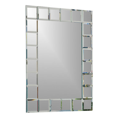 """Decor Wonderland Mirrors - Decor Wonderland Montreal Bathroom Mirror - The Montreal modern wall mirror was inspired by European contemporary design. This bold and beautiful mirror is a center piece that commands attention in any room; living room, main entrance or bathroom. The Montreal wall mirror is hand crafted with each square featuring a 1/2"""" inch border, truly one of a kind, hand made, in the world of home accessories and design."""