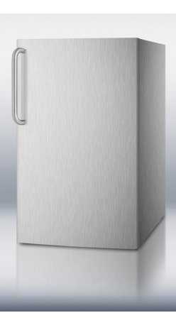 """Summit - CM4057CSSADA 20"""" 4.1 cu. ft. ADA Compliant Built-In Capable Refrigerator Freezer - SUMMIT CM405BI7ADA commercial series features 20 wide refrigerator-freezers designed for built-in use under lower ADA compliant counters"""