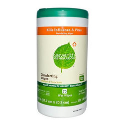 Seventh Generation - Seventh Generation Disinfecting Wipes Lemongrass and Thyme , 70 Wipes , Case of - Your counter tops are one of the germiest places in your kitchen, and by Disinfecting them regularly, you can help to keep your family from becoming ill.