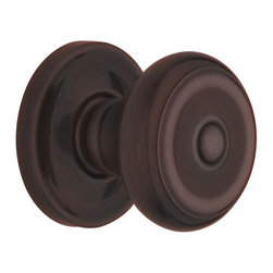 Baldwin Hardware - Estate Colonial Passage Knob in Venetian Bronze (5020 112 PASS 2-3/8 SET) - The Estate line offers the ultimate flexibility in creating your own custom look. Not only can you mix knobs, levers, and roses to create a custom lockset that's a true fit to your design vision, you can also mix knob and lever styles on each side of the
