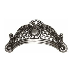 Richelieu Hardware - Richelieu Hardware Art Deco Collection Cup Pull 64mm Faux Iron Finish - Richelieu Hardware Art Deco Collection Cup Pull 64mm Faux Iron Finish