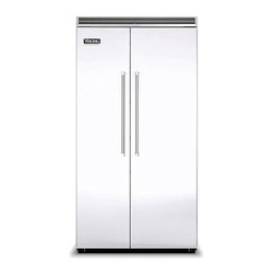 "Viking 42"" Built-in Side By Side Refrigerator White 