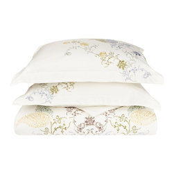 Hyacinth 3-Piece Full/Queen Duvet Cover Set - Give yourself the sleep and the style you deserve with the Hyacinth 3 Piece Duvet Cover Set. Featuring an embroidered floral design this set will be sure to please.