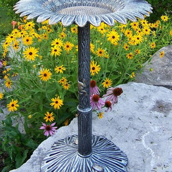 Oakland Living - Butterfly Bird Bath in Antique Bronze - Sunfl - Made of Rust Free Cast Aluminum and Durable Cast Iron Construction. Easy to follow assembly instructions and product care information. Stainless steel or brass assembly hardware. Fade, chip and crack resistant. 1 year limited. Hardened powder coat finish in Antique Bronze for years of beauty. Antique Bronze finish. Some assembly required. 19 in. W x 19 in. L x 34 in. H (30 lbs.)Our bird baths are the perfect edition to any setting. Adds beauty and style to your outdoor patio, back yard, or garden.